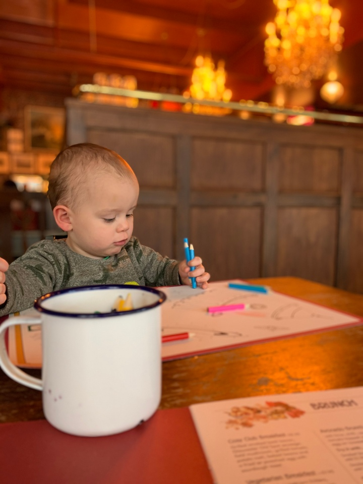 Eating out with a toddler.