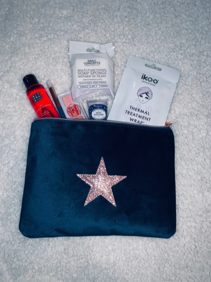 What I got in my December birchbox.