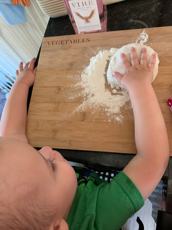 Teaching our little ones about cooking.